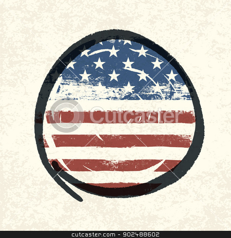 Grunge american flag themed button american flag. Vector, EPS10 stock vector clipart, Grunge american flag themed button american flag. Vector, EPS10 by pashabo