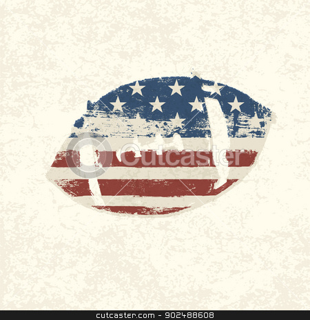 Grunge american flag themed ball symbol. Vector, EPS10 stock vector clipart, Grunge american flag themed ball symbol. Vector, EPS10 by pashabo