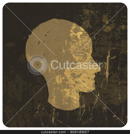 Grunge illustration of head silhouette. Vector stock vector clipart, Grunge illustration of head silhouette. Vector by pashabo