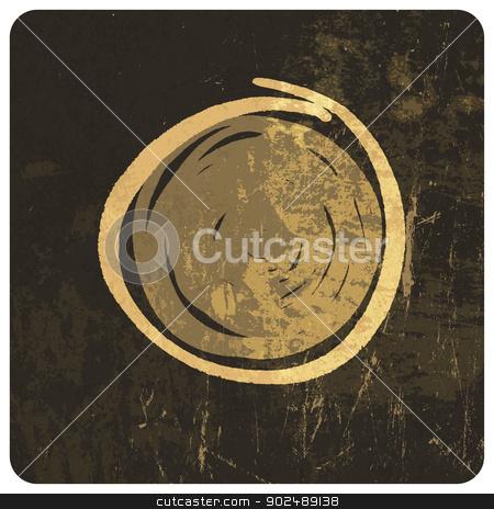 Grunge circle illustration. Vector stock vector clipart, Grunge circle illustration. Vector by pashabo