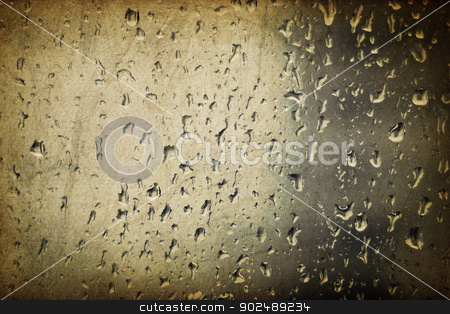 Vintage glass with raindrops stock photo, Vintage glass with raindrops by pashabo