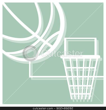 basketball pictogram stock vector clipart, basketball vector pictogram by shufu