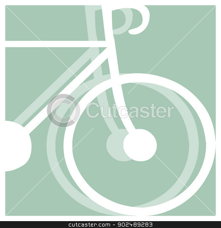 bicycling pictogram stock vector clipart, bicycling vector pictogram by shufu