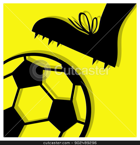 football pictogram stock vector clipart, football vector pictogram yellow black by shufu