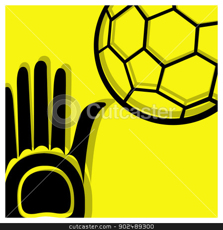 handball pictogram stock vector clipart, handball vector pictogram yellow black by shufu