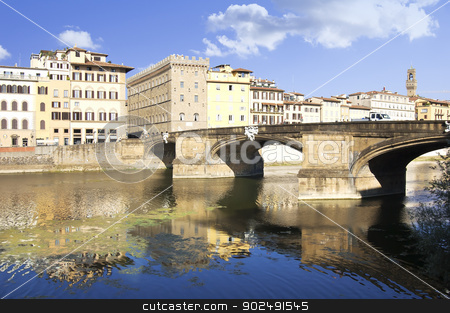 Ponte a Santa Trinita, Florence, Tuscany, Italy. Bridge of Holy Trinity. stock photo, Ponte a Santa Trinita, Florence by Bojan Bokic