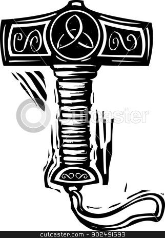 Thors Hammer Mjolnir Stock Vector