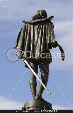 Cervantes sculpture stock photo, Cervantes sculpture by Fernando Cortes