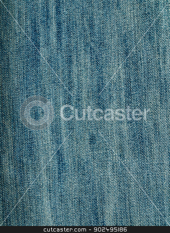 Background of jeans stock photo, Striped textured used blue jeans denim fabric grunge background by gururugu
