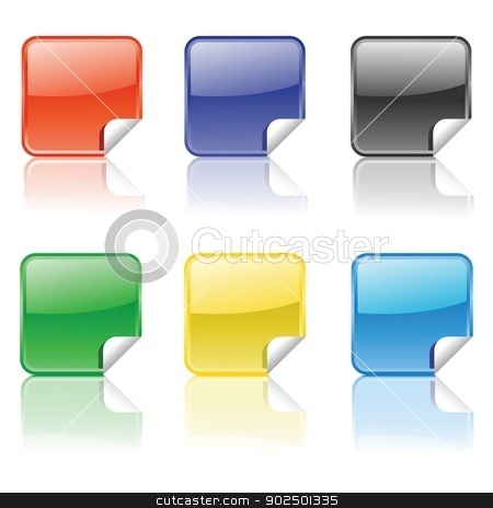 set of colorful stickers stock photo, set of colorful stickers for your design by valeo5