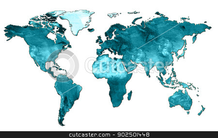 map world stock photo, card for all countries in the world ecology by Cochonneau