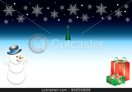 Christmas Background 3 stock vector clipart, Vector Illustration of Snowflake background template. Christmas Background 3. by Basheera Hassanali