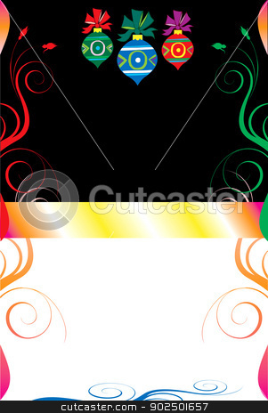 Christmas Background 8 stock vector clipart, Vector Illustration of a Christmas Abstract Background. by Basheera Hassanali