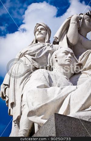 Albert Memorial, Kensington, London: detail of Asia stock photo, Albert Memorial in Hyde Park, Kensington, London: detail of the statue group representing the continent of Asia. by Piccia Neri