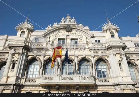 Port of Barcelona stock photo, Port of Barcelona building, Barcelona, Catalonia, Spain by dinozzaver