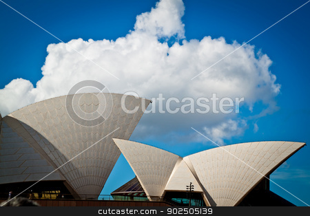 Sydney Opera House sails stock photo, Sydney Opera House sails in profile by Piccia Neri