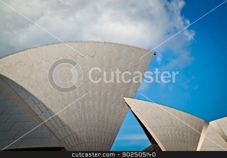 Sydney Opera House sails stock photo, Sydney Opera House sails in profile by Piccia Neri