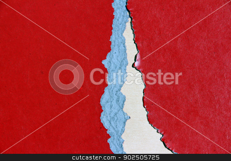 Torn cardboard texture stock photo, Background or texture of broken colored construction paper by guillermo