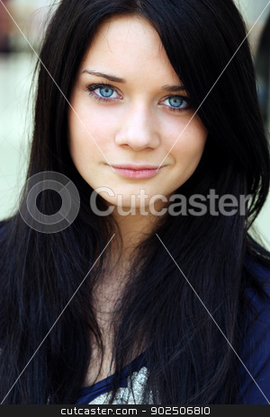 Glamor portrait of a beautiful woman stock photo, Closeup glamor portrait of a beautiful woman by andersonrise