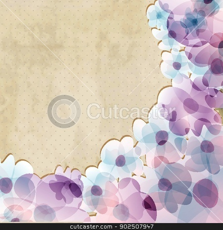 Abstract hand drawn watercolor background. stock photo, Abstract hand drawn watercolor background by Maria Cherevan