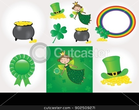 St Patrick day set stock photo, St Patrick day set by Maria Cherevan