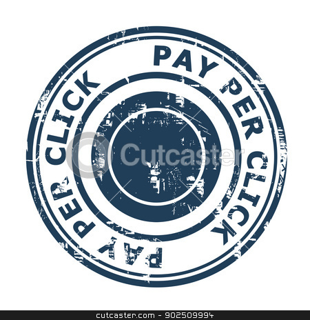 Pay Per Click SEO concept stamp stock photo, Pay Per Click SEO concept stamp isolated on a white background. by Martin Crowdy