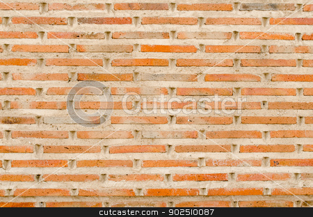 Old brick wall stock photo, Weathered stained old brick wall background. by Homydesign