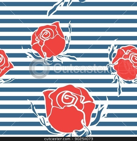Cute floral seamless background stock photo, Cute floral seamless background by Maria Cherevan