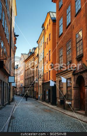 Gamla stan stock photo, Along the streets of Gamla stan in Stockholm, Sweden. by Kalin Eftimov