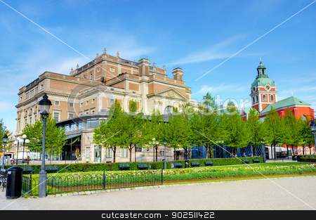 The King's garden stock photo, Some of the buildings in the King's garden (Kungstradgarden) in Stockholm, Sweden by Kalin Eftimov