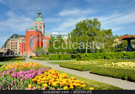 The King's garden, Stockholm stock photo, In the King's Garden (Kungstradgarden) in Stockholm, Sweden by Kalin Eftimov