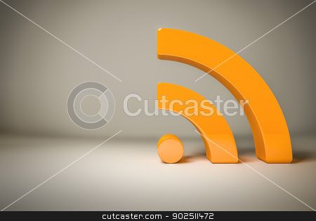rss sign background stock photo, A rss sign with space for your own content by Markus Gann