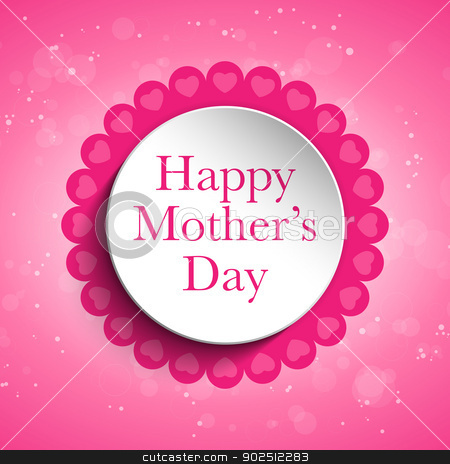 Happy Mother Day Heart Tag Background stock vector clipart, Vector - Happy Mother Day Heart Tag Background by Augusto Cabral Graphiste Rennes