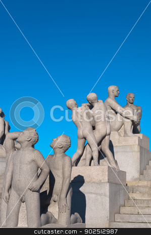 Group of sculptures in the Vigeland Park. stock photo, Group of sculptures in the Vigeland Park. Oslo, Norway. by Borys Shevchuk