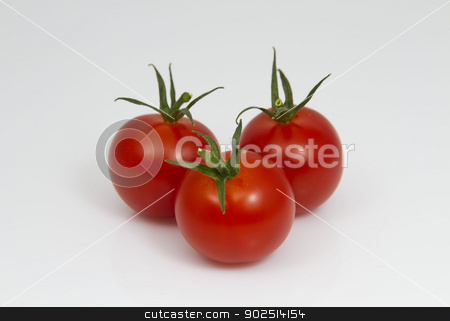 Tomatoes stock photo, Three Tomatoes by Goldcoinz