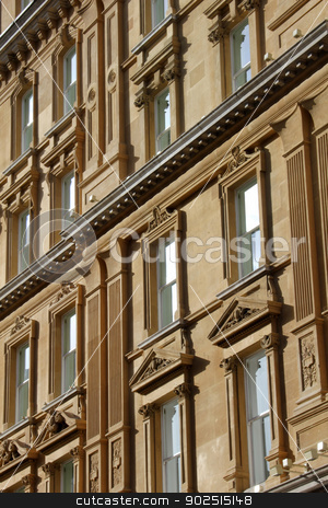 Abstract London Architecture stock photo, Contemporary London Architecture abstract classic windows k UK by Ollie Taylor