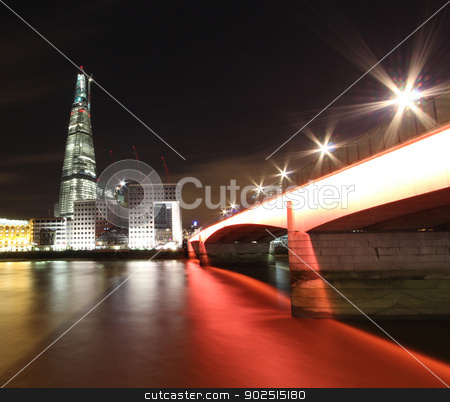 London Architecture stock photo, Contemporary London Architecture along the Thames River bank UK by Ollie Taylor