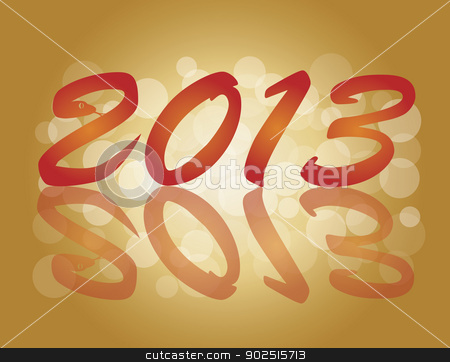 2013 Chinese New Year Snake Numbers Illustration stock vector clipart, 2013 Chinese New Year of the Snake Numbers Calligraphy Blurred Background Illustration by Jit Lim