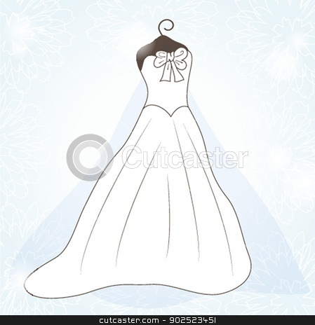 Wedding background with dress stock photo, Wedding background with dress by Maria Cherevan