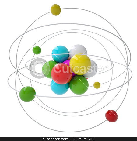 Molecule stock photo, Molecule. Isolated render on a white background by cherezoff