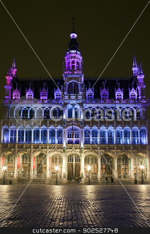 Maison du Roi (King's House) in Grand Place, Brussels stock photo, The Maison du Roi (King's House) in Grand Place, Brussels. by Chris Dorney