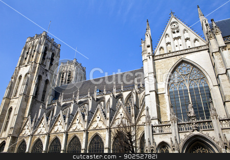 St. Michael and St. Gudula Cathedral in Brussels stock photo, St. Michael and St. Gudula Cathedral in Brussels, Belgium. by Chris Dorney