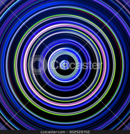 Blue and green color circles on black. stock photo, Blue and green color circles on black. by Stephen Rees