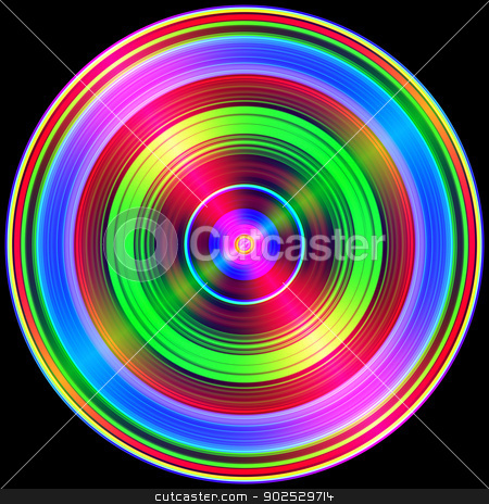 Multicolored circles light flares isolated on black. stock photo, Multicolored circles light flares isolated on black. by Stephen Rees