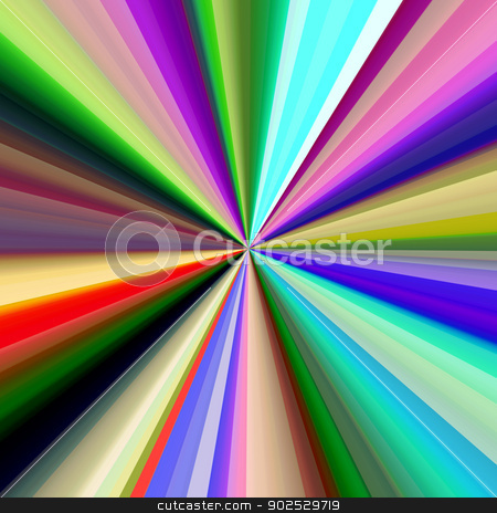 Multicolored diagonal bands converging in a pinpoint. stock photo, Multicolored diagonal bands converging in a pinpoint. by Stephen Rees
