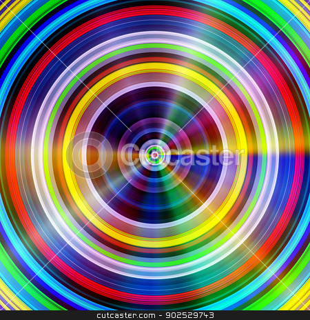 Multicolored circles light flares. stock photo, Multicolored circles light flares. by Stephen Rees