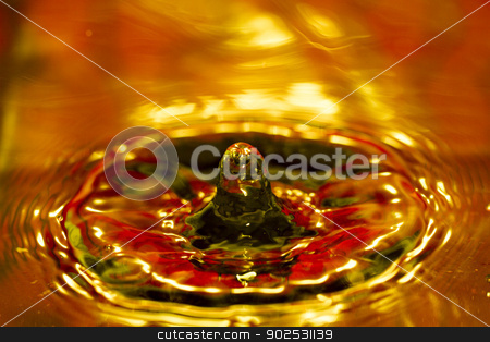 drop of water stock photo, Beautiful close up view of a drop of water.  by Mauro Rodrigues