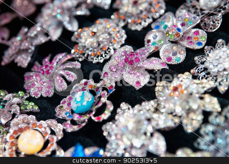 costume jewelry stock photo, cheap costumne jewelry for sale in shop by Phil Morley