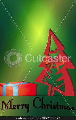 Christmas tree gift cards stock vector clipart, Christmas tree gift cards vector illustrations. by Pavel Skrivan