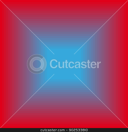 Glowing blue square stock vector clipart, Glowing blue square on a red background.  by Pavel Skrivan